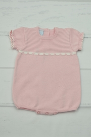 Granlei 1980 Pink Knitted Onesie - Front cropped