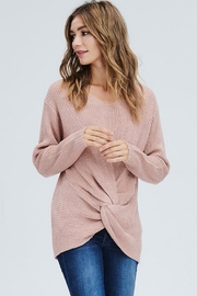 Compendium boutique Pink Knotted Sweater - Product Mini Image