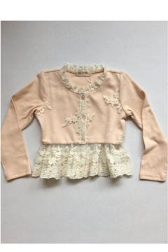 Shoptiques Product: Pink Lace Cardigan