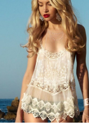 L'atiste Pink Lace Coverup - Product Mini Image