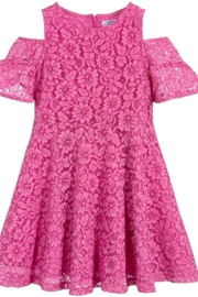 Mayoral Pink Lace Dress - Front cropped