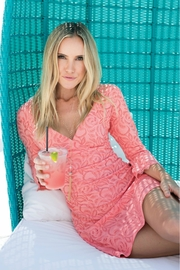 Simply Noelle Pink Lace Dress - Product Mini Image