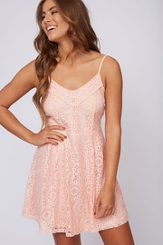 Peach Love California Pink Lace Dress - Product Mini Image