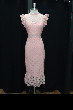 Just Me Pink Lace Dress - Alternate List Image