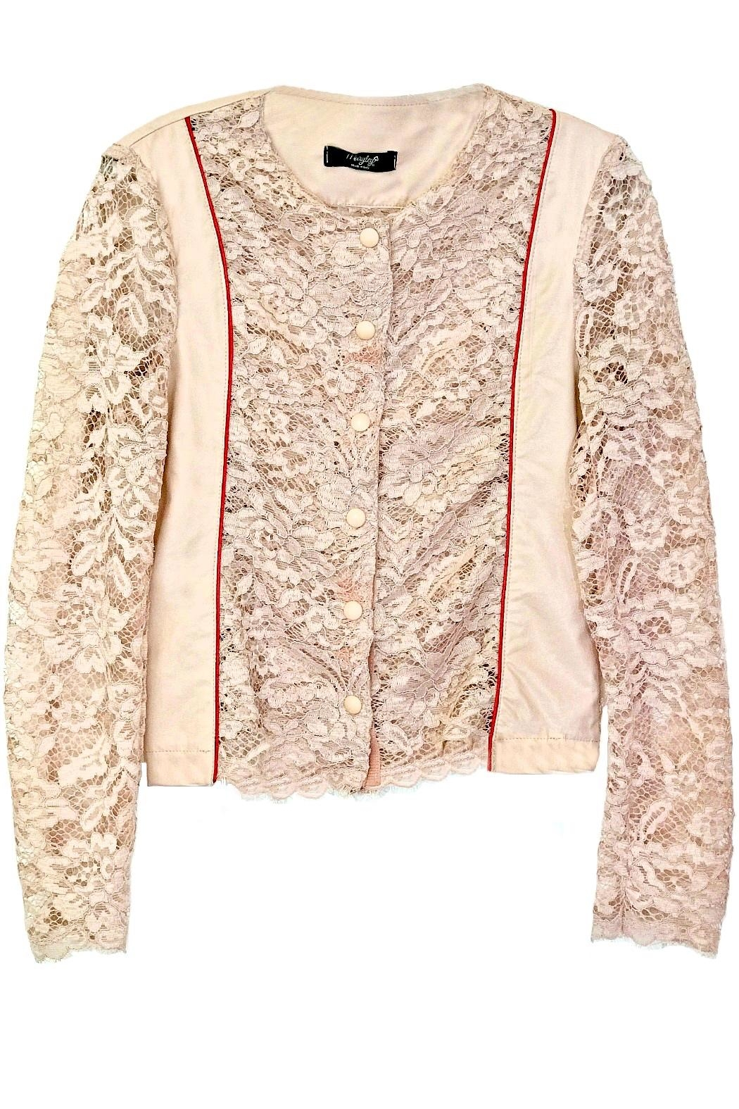 Maryley Pink Lace Jacket - Main Image