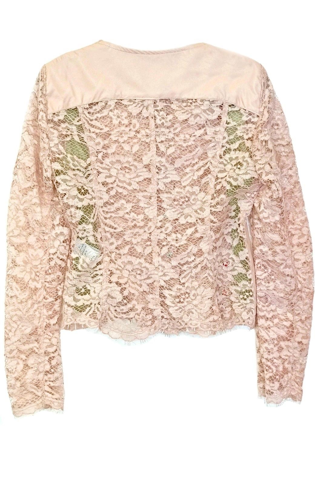 Maryley Pink Lace Jacket - Front Full Image