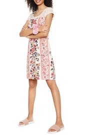 DESIGUAL Pink Lace Nighty - Front full body
