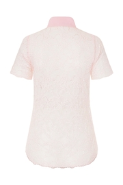 Sophie Cameron Davies Pink Lace Shirt - Side cropped