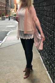 The Vintage Valet Pink Lace Vest - Product Mini Image