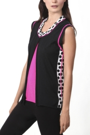 Angel Apparel Pink Lady Polka Dot Knit Vest - Product Mini Image