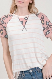 Lovely Melody Pink Leopard Top - Product Mini Image