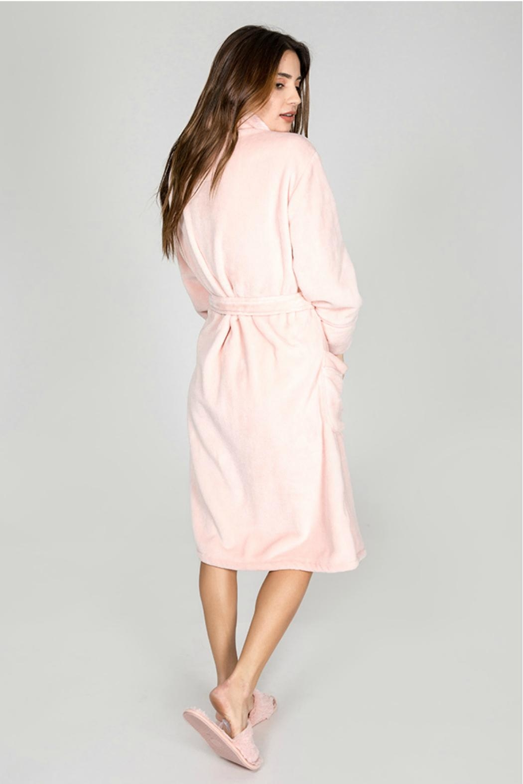 P.J. Salvage Pink Luxe Robe - Side Cropped Image