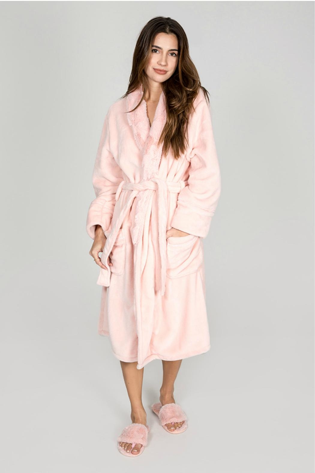 P.J. Salvage Pink Luxe Robe - Main Image