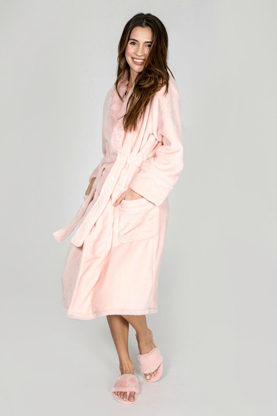 P.J. Salvage Pink Luxe Robe - Front Full Image