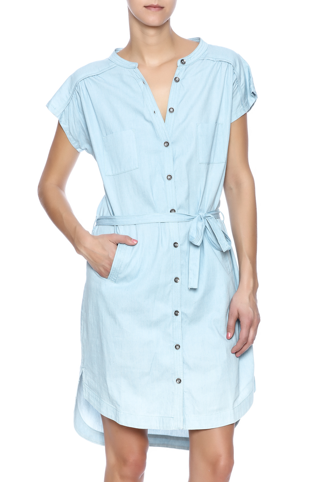 Pink Martini Casual Button Down Dress - Main Image