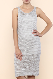 Pink Martini Chainmail Grey Crochet Dress - Product Mini Image