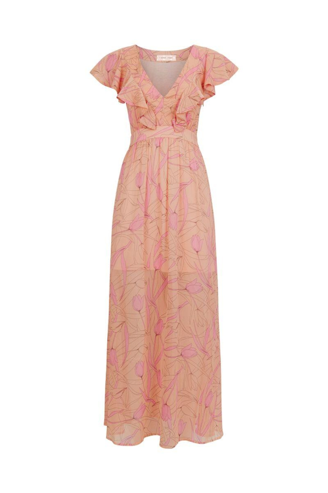 Traffic People Pink Maxi Dress - Front Cropped Image