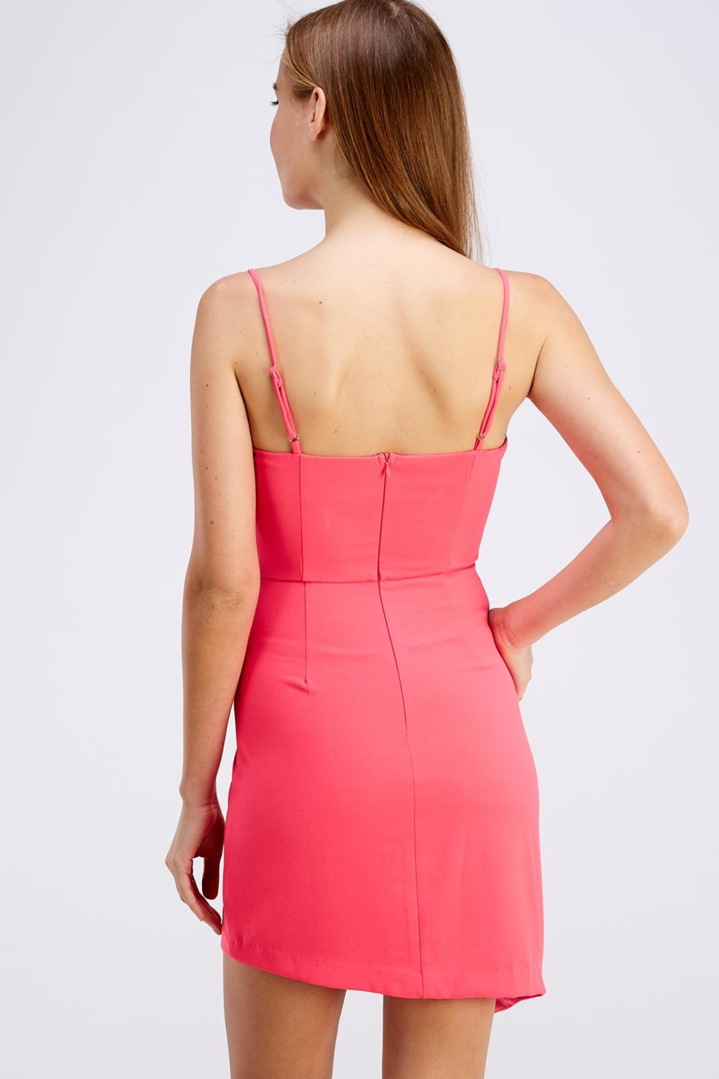 Do & Be Pink Mini Dress - Side Cropped Image