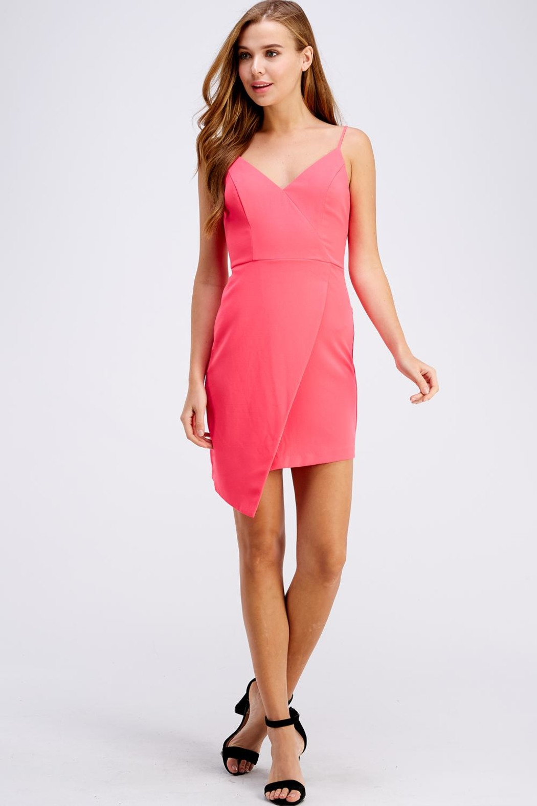 Do & Be Pink Mini Dress - Back Cropped Image