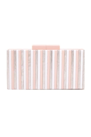 Like Dreams Pink Multi Stripe Clutch - Product Mini Image