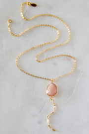 Mesa Blue Pink Opal Lariat Necklace - Product Mini Image