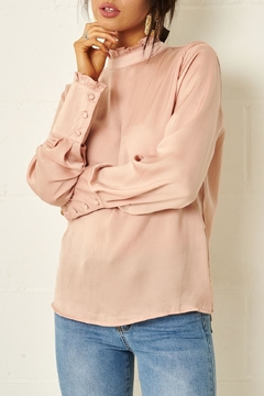 frontrow Pink Open-Back Blouse - Product List Image
