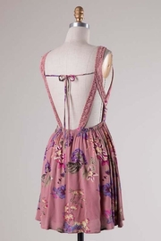 Compendium boutique Pink Open-Back Sundress - Front full body