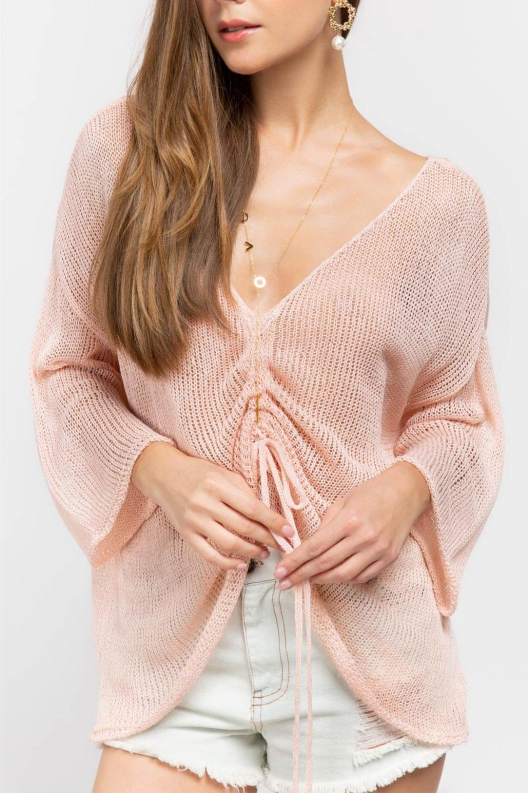 POL Pink Oversized Sweater - Main Image