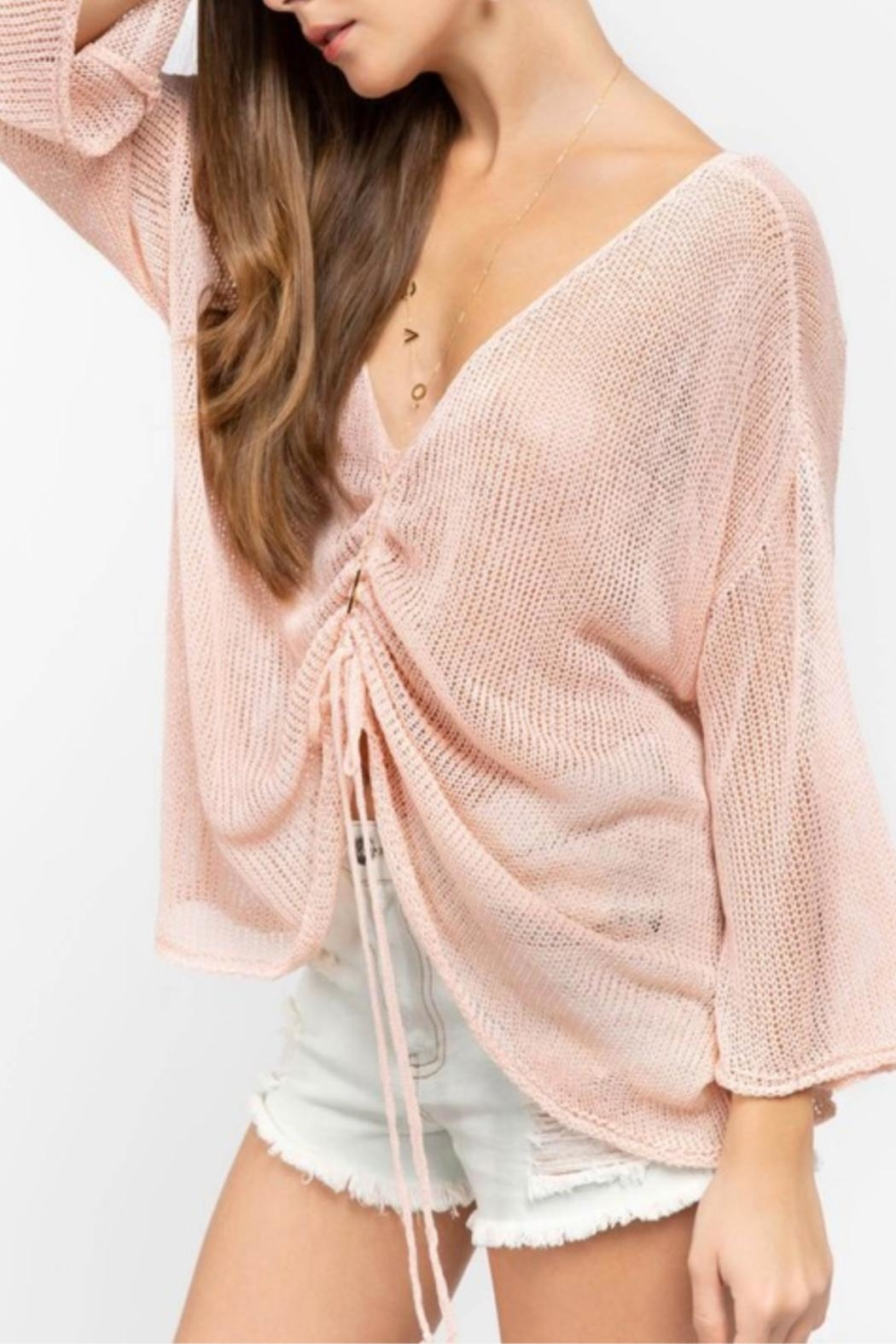 POL Pink Oversized Sweater - Front Full Image