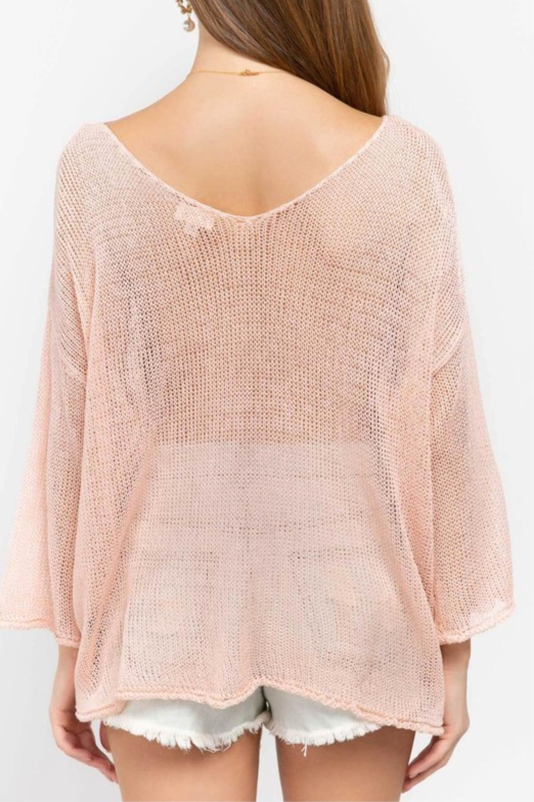 POL Pink Oversized Sweater - Side Cropped Image