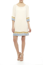 Pink Owl Apparel  Tribal Cream Dress - Front full body