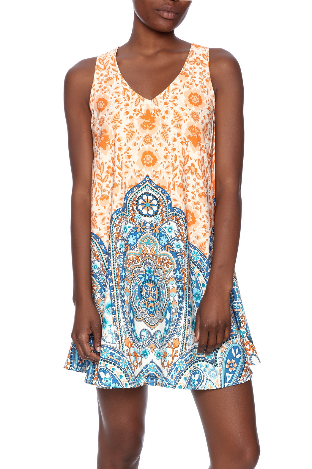 Pink Owl Geo Print Dress From Texas By The Blue Dahlia