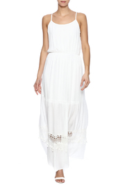 Pink Owl Ivory Maxi Dress - Front full body