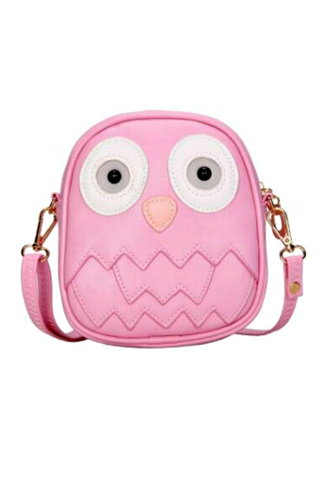 Zomi Gems Pink-Owl Mini Purse - Main Image