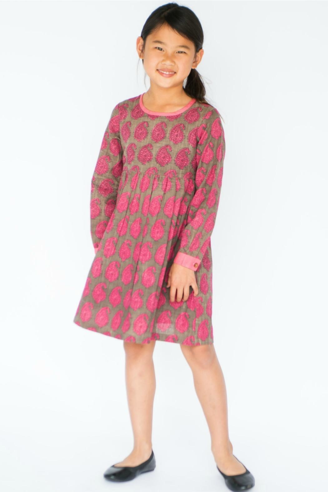 YO BABY Pink Paisley Dress - Front Cropped Image