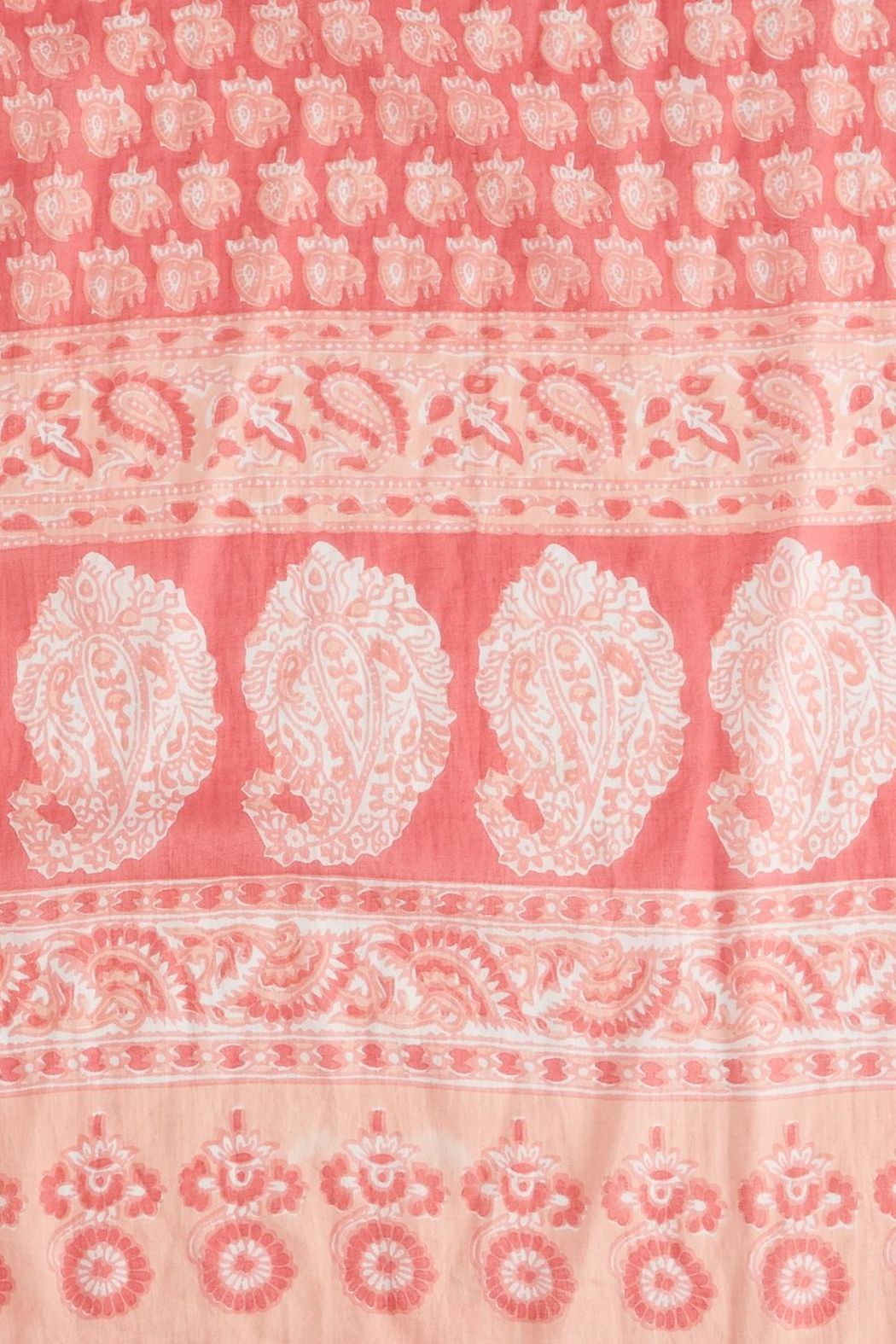 2 Chic Pink Paisly Scarf - Front Full Image