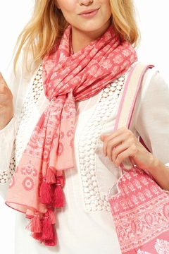 Shoptiques Product: Pink Paisly Scarf