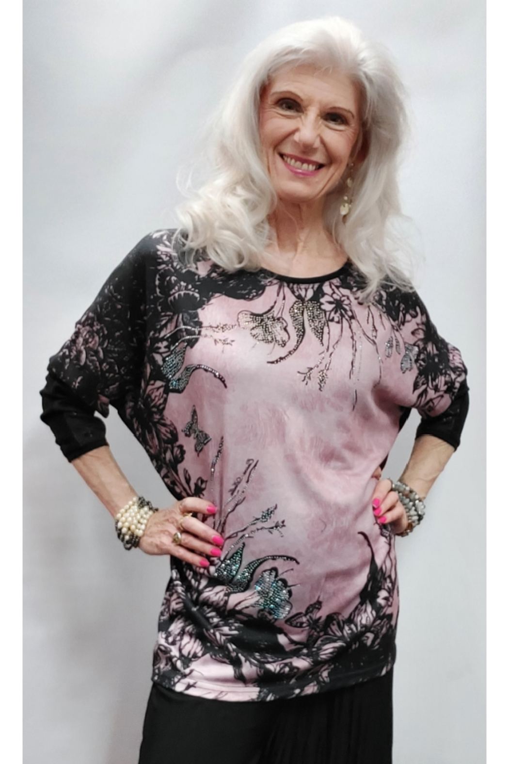 Apparel Love Pink Panache Tunic Top - Front Full Image