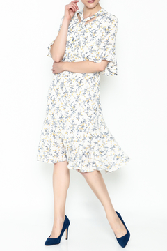 Shoptiques Product: Floral Pattern Ribbon Dress