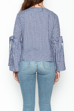 Pink Penguin Plaid Lace Sleeve Top - Alternate List Image