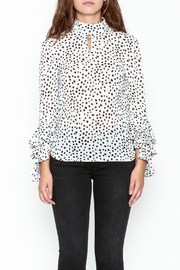 Pink Penguin Polka Dot Blouse - Front full body