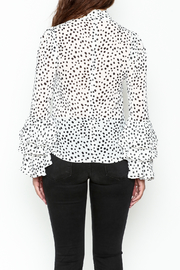 Pink Penguin Polka Dot Blouse - Back cropped