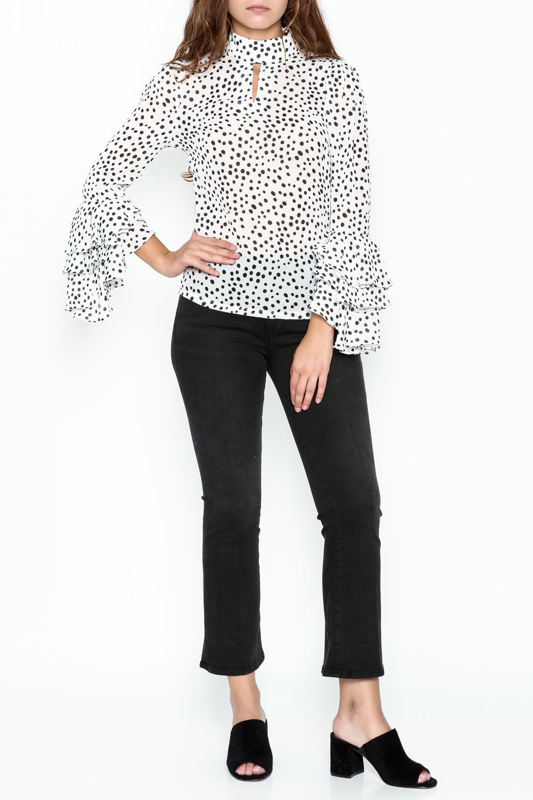 Pink Penguin Polka Dot Blouse - Side Cropped Image