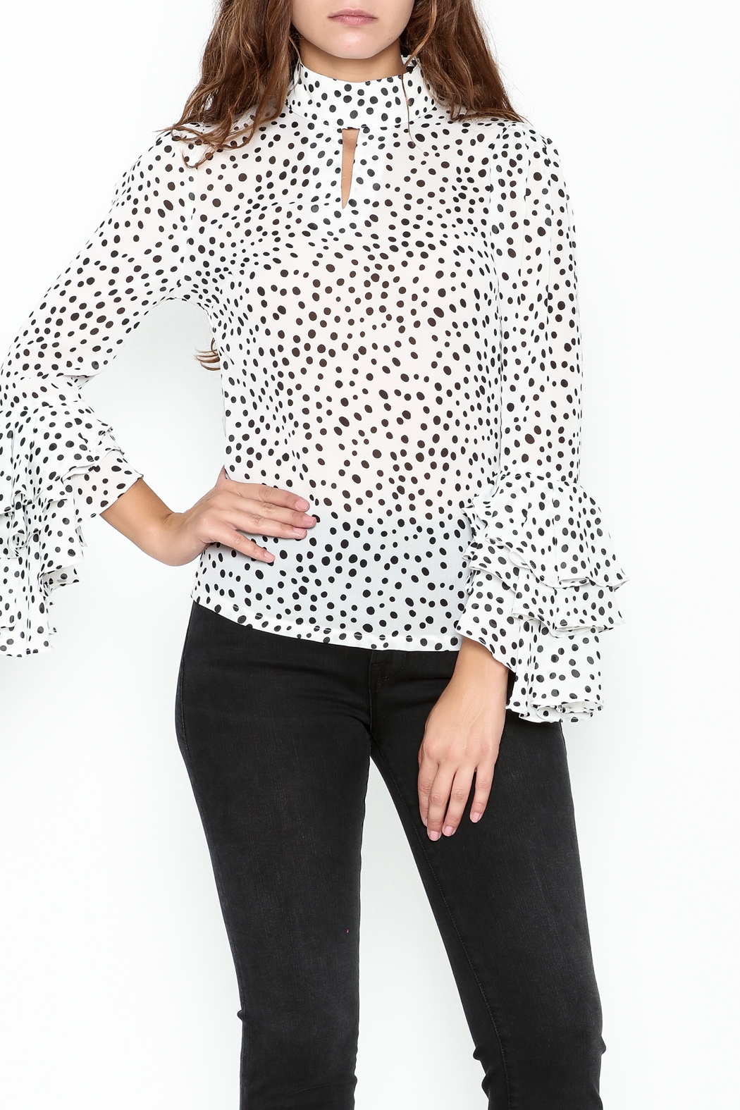 Pink Penguin Polka Dot Blouse - Main Image