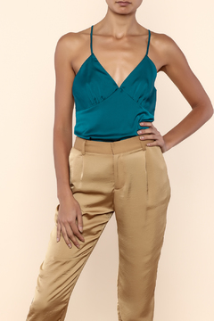 Shoptiques Product: Teal Satin Top