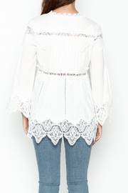 Pink Penguin White Lace Accent Top - Back cropped