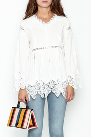 Pink Penguin White Lace Accent Top - Front full body