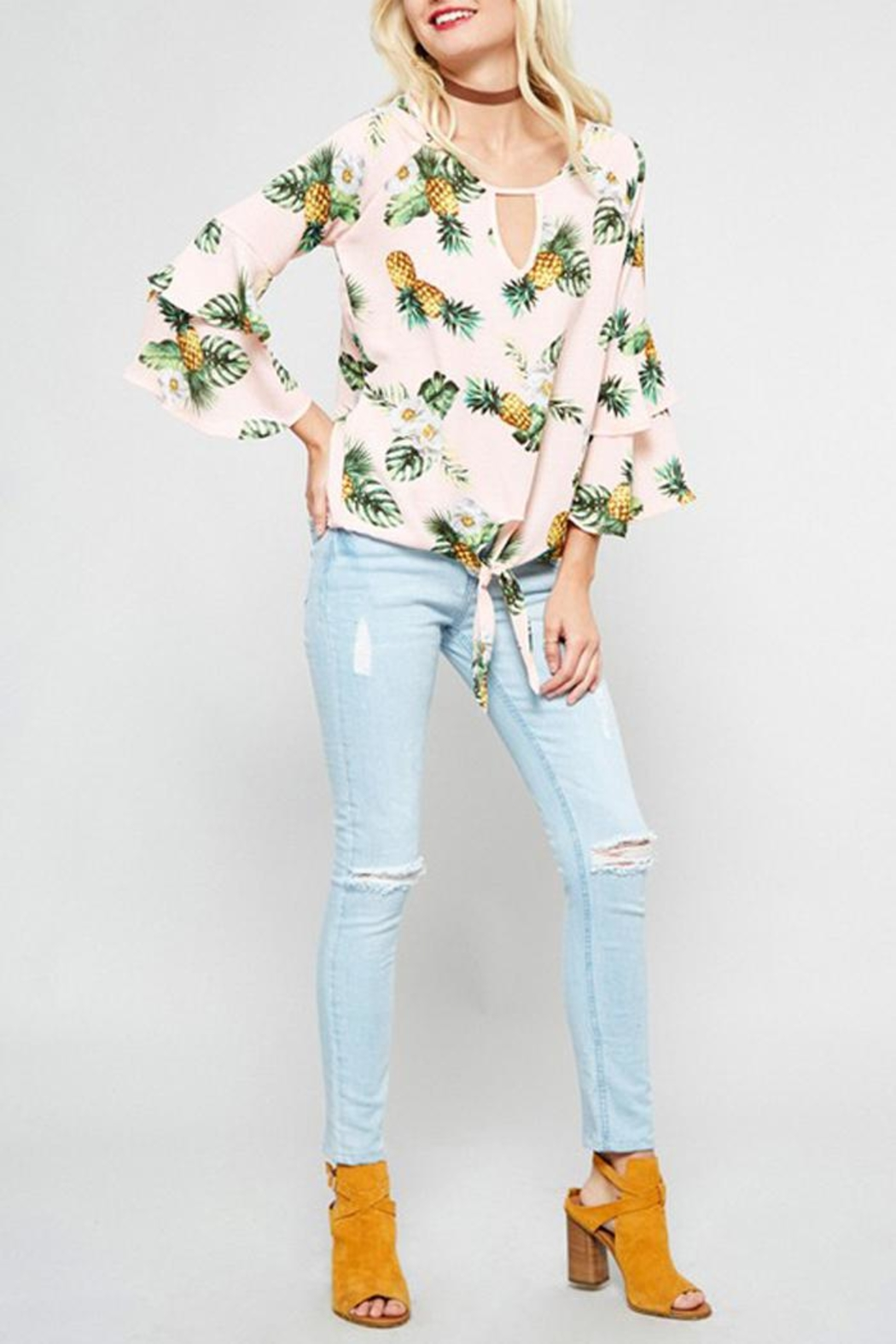 Promesa USA Pink Pineapple Top - Front Full Image