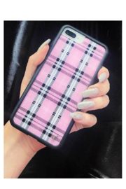 Wildflower Cases Pink Plaid iPhone 6/7/8 Case - Product Mini Image