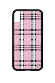 Wildflower Cases Pink Plaid iPhone Xs Max - Front cropped